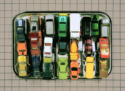 Nomadic Fungi Institute, 'Lab Work: Tray of Cars', 2016