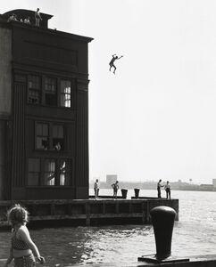 Ruth Orkin, 'Boy Jumping into Hudson River, Gansevoort Pier', 1948