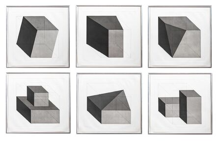 Sol LeWitt, 'Forms Derived from a Cube Series', 1982