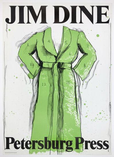 Jim Dine, 'Petersburg Press 1971 (Green Bathrobe)', 1971