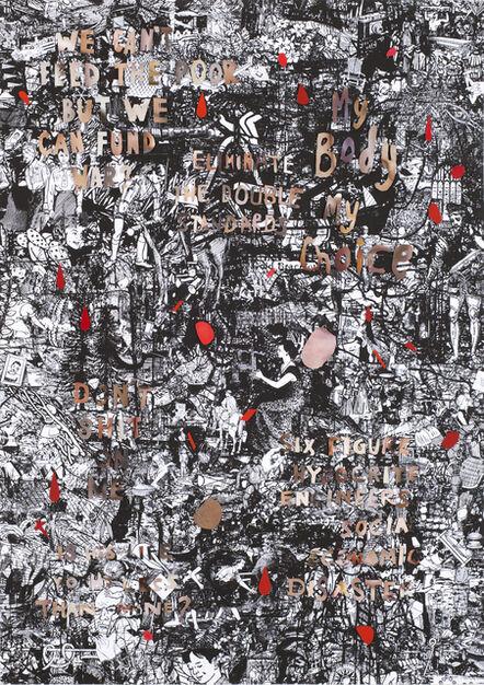 Julia Rosa Clark, 'Outrage in Flesh Tones on a Hegemonic Ground 2', 2016