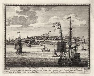 Petrus Schenk, 'Nieu Amsterdam, een stedeken in Noord Amerikaes Nieu Hollant, op het eilant Mankattan: Namaels Nieu Jork genaemt, to en het geraekte in't gebiet der Engelschen.', 1702