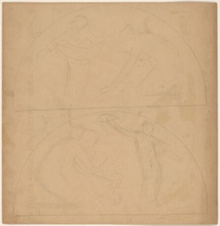 Charles Sprague Pearce, 'Study for a Border Design [verso]', 1890/1897