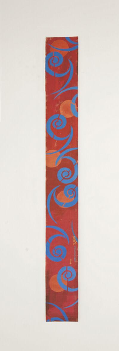 Chant Avedissian, 'B3 - Tashkent caftan spiral pattern in blue, 5 orange circles', 2016
