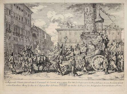 Jean Baptiste Marie Pierre, 'Masquarade chinoise faite à Rome', 1735