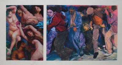 John Valadez, 'The Chase', 1999