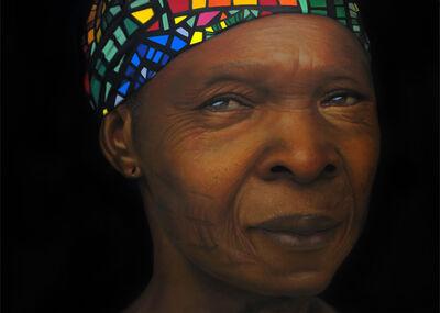 Babajide Olatunji, 'Woman with Ankara scarf ', 2021