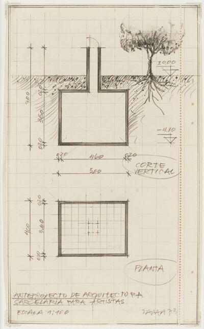 Horacio Zabala, 'Anteproyecto de arquitectura carcelaria para artistas', 1973