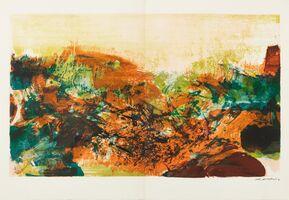 Zao Wou-Ki 趙無極, 'À La Gloire de l'image et art Poétique', 1976