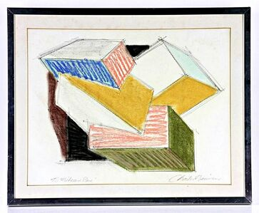 Charles Hinman, 'Untitled Minimalist Drawing inscribed to Michael and Rene', 1980