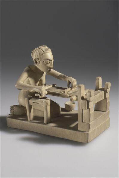 I.B. Adji Boen and I.B.P. Soentoelamn, 'Carving, the stage of weaving cloth on a loom, or nunun', Batuan, Bali, 1938