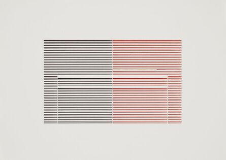 Michael Craig-Martin, 'Untitled (Venetian Blind Study 10)', 1989