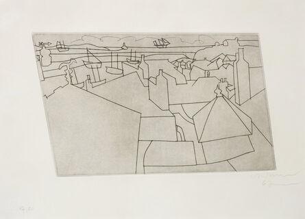 Ben Nicholson, 'St Ives from Trezion', 1967