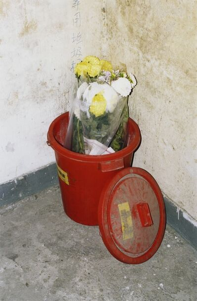 Alexandra Leese, 'Red Bucket with Flowers', 2017