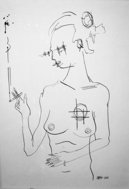 Grant Czuj, 'Smoking Nude', ca. 2019