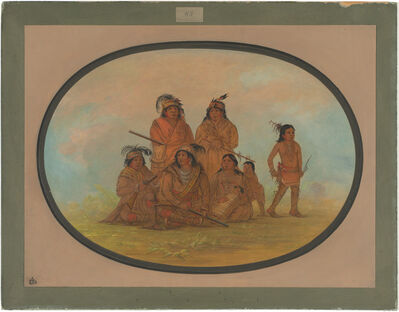 George Catlin, 'Seminolee Indians, Prisoners at Fort Moultrie', 1861/1869