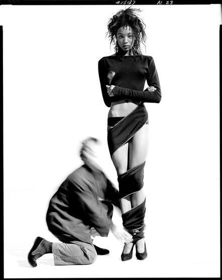 Arthur Elgort, 'Naomi Campbell and Azzedine Alaia', 1987