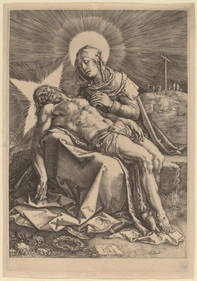 Hendrik Goltzius, 'Pietà (The Sorrowing Virgin with the Dead Christ in Her Lap)', 1596