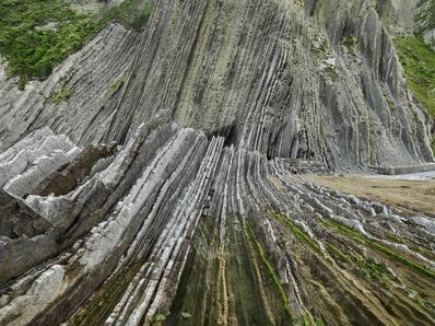 Edward Burtynsky, 'Basque Coast #1, UNESCO Geopark, Zumaia, Spain', 2015