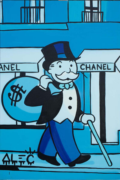Alec Monopoly, 'Blue Monopoly Walking by Chanel', 2021