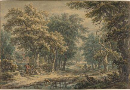 Egbert van Drielst, 'At Donderen, in the Woods of Drenthe', 1799