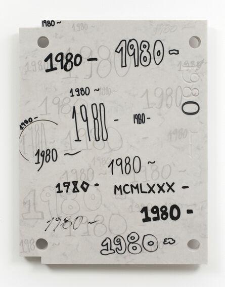 Analía Saban, 'Study for Gravestone Writing (1980 - )', 2013