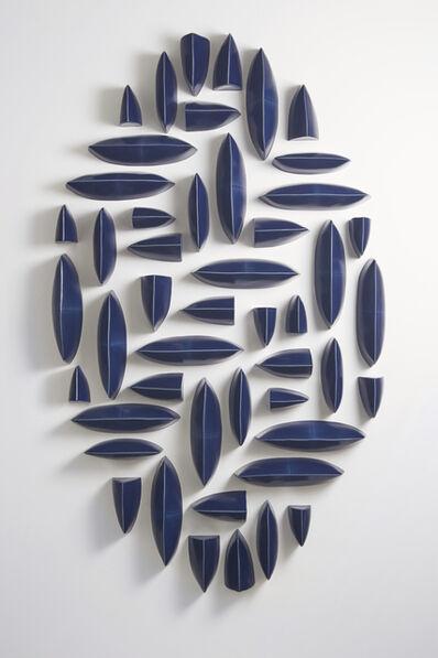 Maren Kloppmann, 'Wall Pillows Blue Oval I', 2017