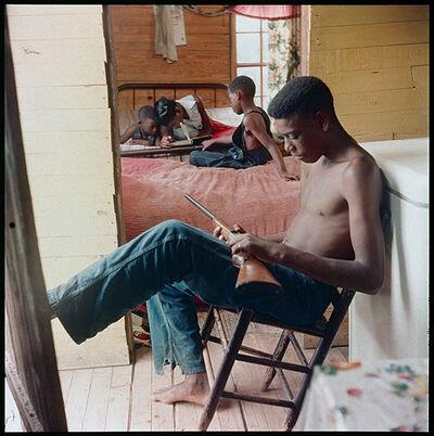 Gordon Parks, 'Willie Causey, Jr., with Gun During Violence in Alabama, Shady Grove, Alabama', 1956