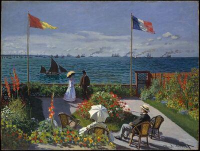 Claude Monet, 'Garden at Sainte-Adresse', 1867