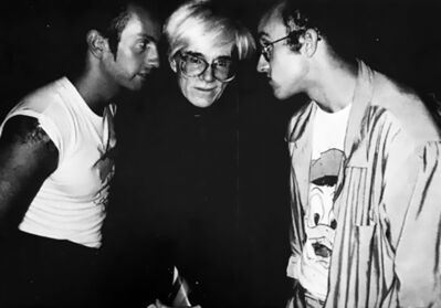 Patrick McMullan, '1980s Keith Haring, Kenny Scharf, Andy Warhol exhibition announcement', 1987