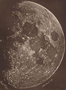 Lewis Rutherford, 'Photographie de la lune a son 1er Quartier', 1865