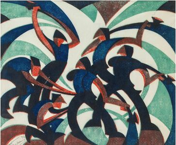 Sybil Andrews, 'Sledgehammers', 1933