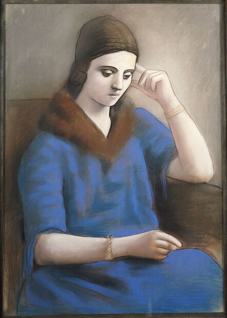 Pablo Picasso, 'Olga penseive'
