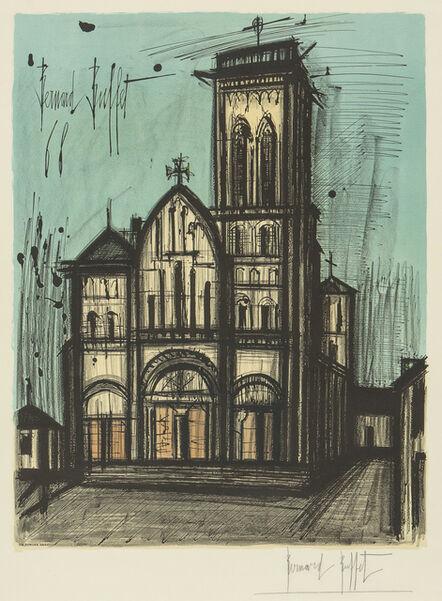 Bernard Buffet, 'La basilique de la Madeleine à Vezelay', 1968