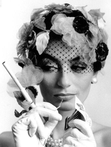 William Klein, 'Anouk Aimée & Cigarette holder', 1963