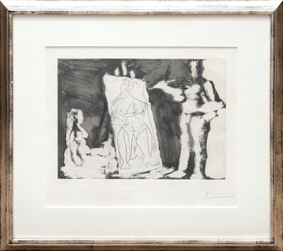 Pablo Picasso, 'Peintre et sa toile, avec un Modèle', 1965