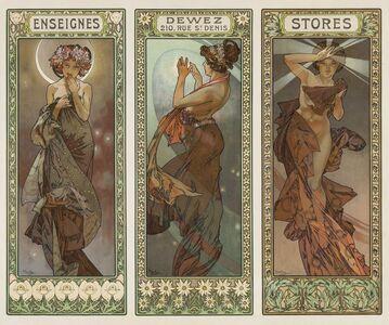 Alphonse Mucha, 'The Stars / Dewez', ca. 1902