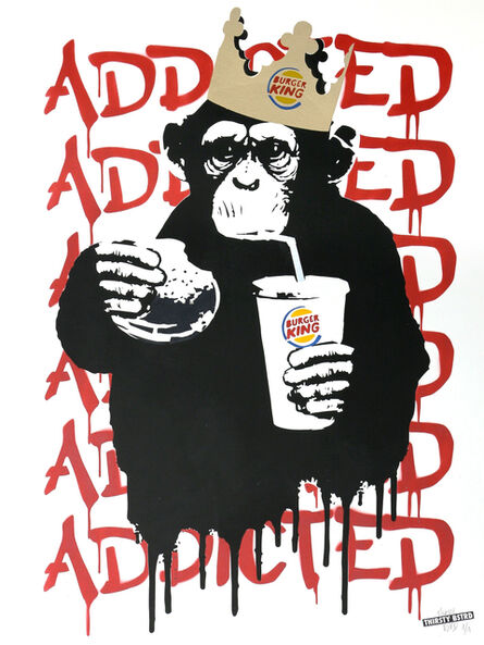 Thirsty Bstrd, 'Fast Food Monkey – Burger King Red', 2016