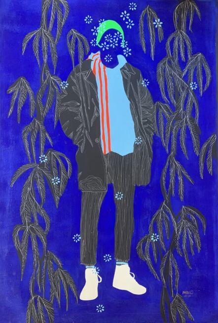 Moustapha Baïdi Oumarou, 'Monde en bleu', 2020