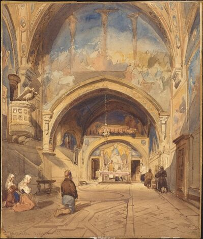 David Roberts, 'The Interior of the Church of San Benedetto', 1837