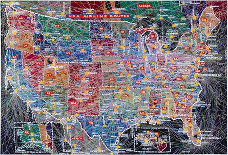 Paula Scher, 'Airline Routes', 2015
