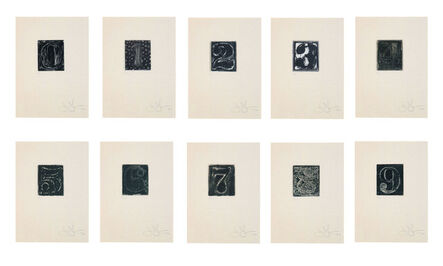 Jasper Johns, '0-9', 1975
