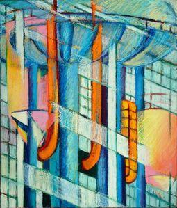 Charlotte Schatz, 'Building/Tank/Tower Combine #1'