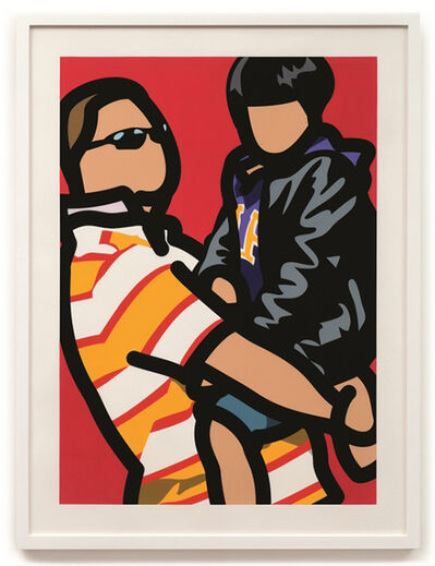 Julian Opie, 'Tourist with child.', 2014