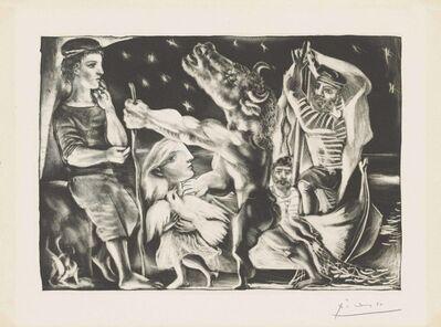 Pablo Picasso, 'Minotaure aveugle guidé par une Fillette dans la Nuit, from: La Suite Vollard', 1934