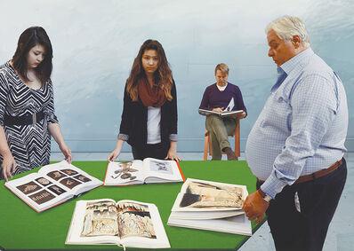 David Hockney, 'Reading in the Studio', 2015