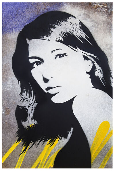 XOOOOX, 'Sofia (Reva)   Streetart Unique Stencil on Corten Steel.', 2019