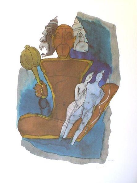 Maqbool Fida Husain, 'Hanuman - Three Heads', n/a