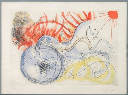 Salvador Dalí, 'Elijah and the Chariot from our historical heritage portfolio', 1975