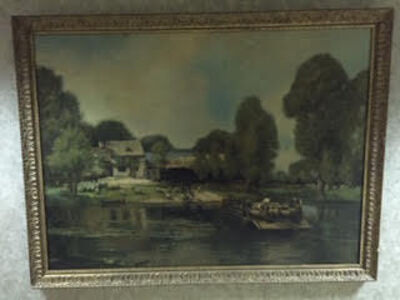 From the School of John Constable (British), '19th century landscape original oil painting'